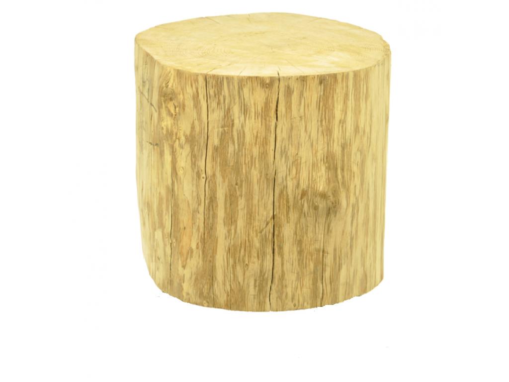 Boomstam tafel 45 cm hoog zonder wieltjes