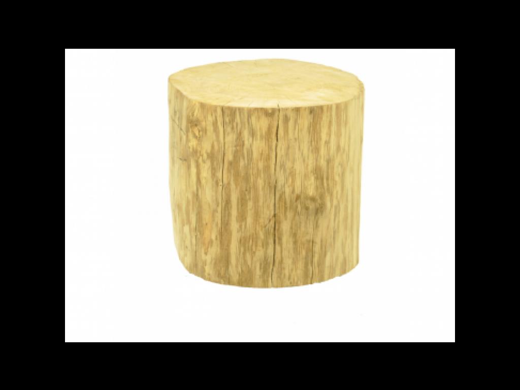 Boomstam tafeltje 60 cm hoog zonder wieltjes