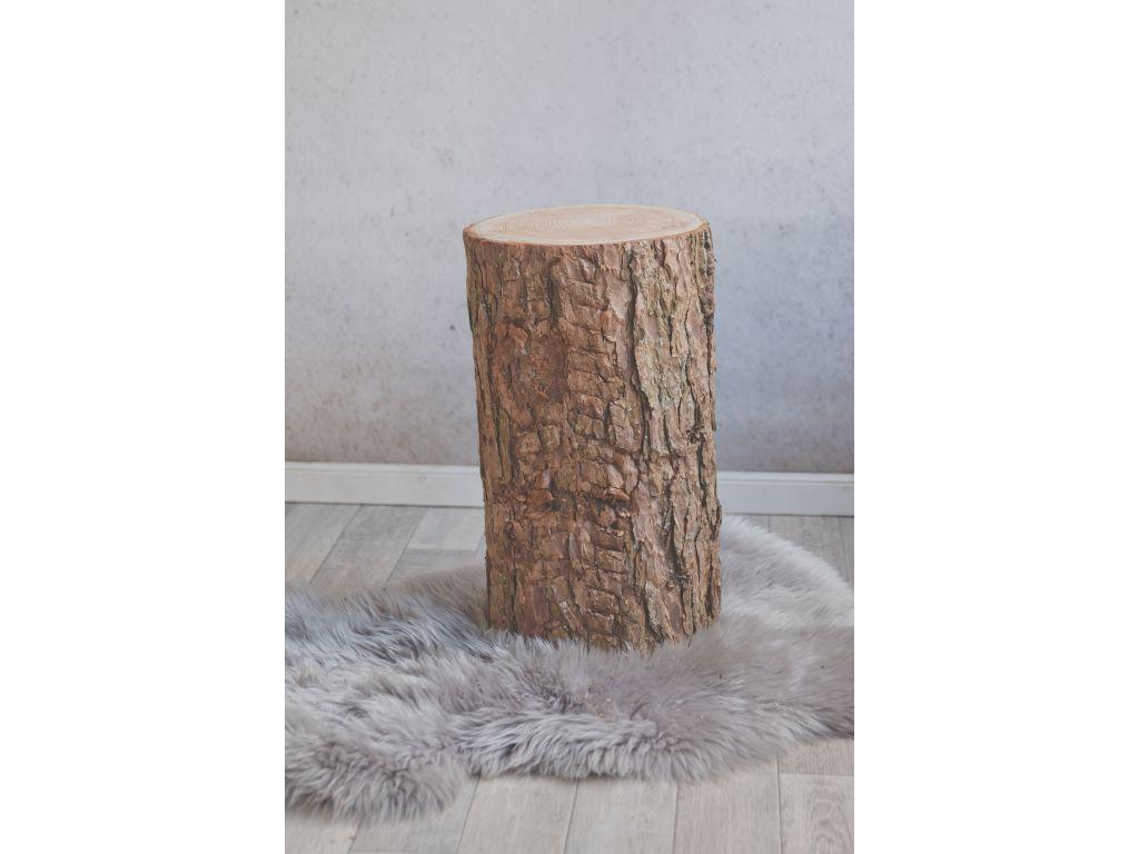 Boomstam tafel 50 cm hoog met schors