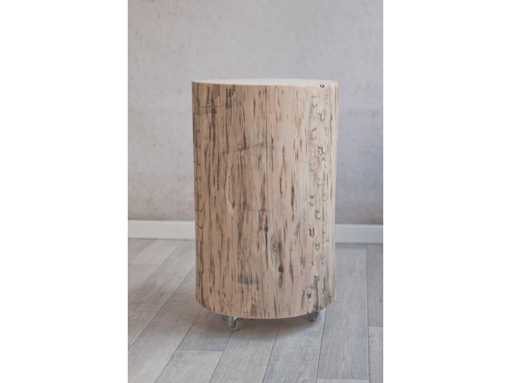 Boomstam tafel 40 cm hoog
