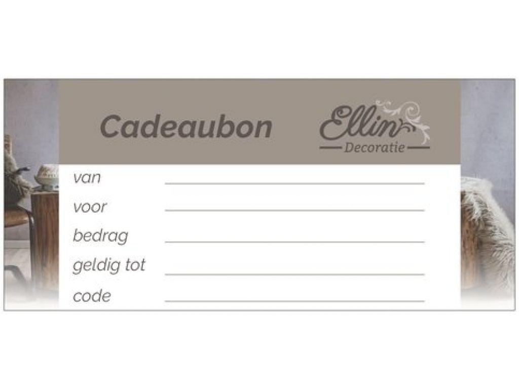 Cadeaubon € 10,00 (inclusief gratis verzending)