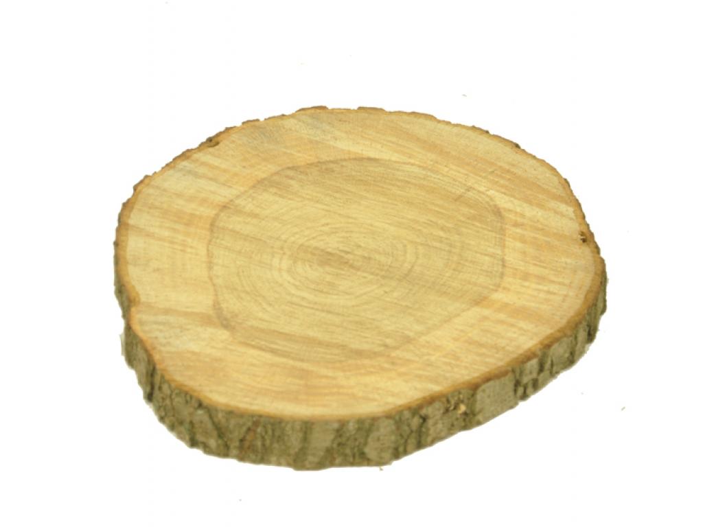 Boomstam sierschijf met schors 35-40 cm doorsnede