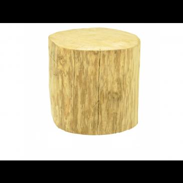 Boomstam tafel 35 cm hoog zonder wieltjes