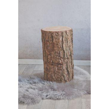 Boomstam tafel 40 cm hoog met schors