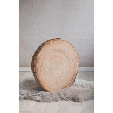 Boomstam sierschijf met schors 45 cm doorsnede
