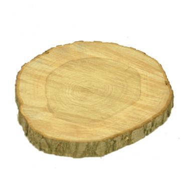 Boomstam sierschijf met schors 40 cm doorsnede